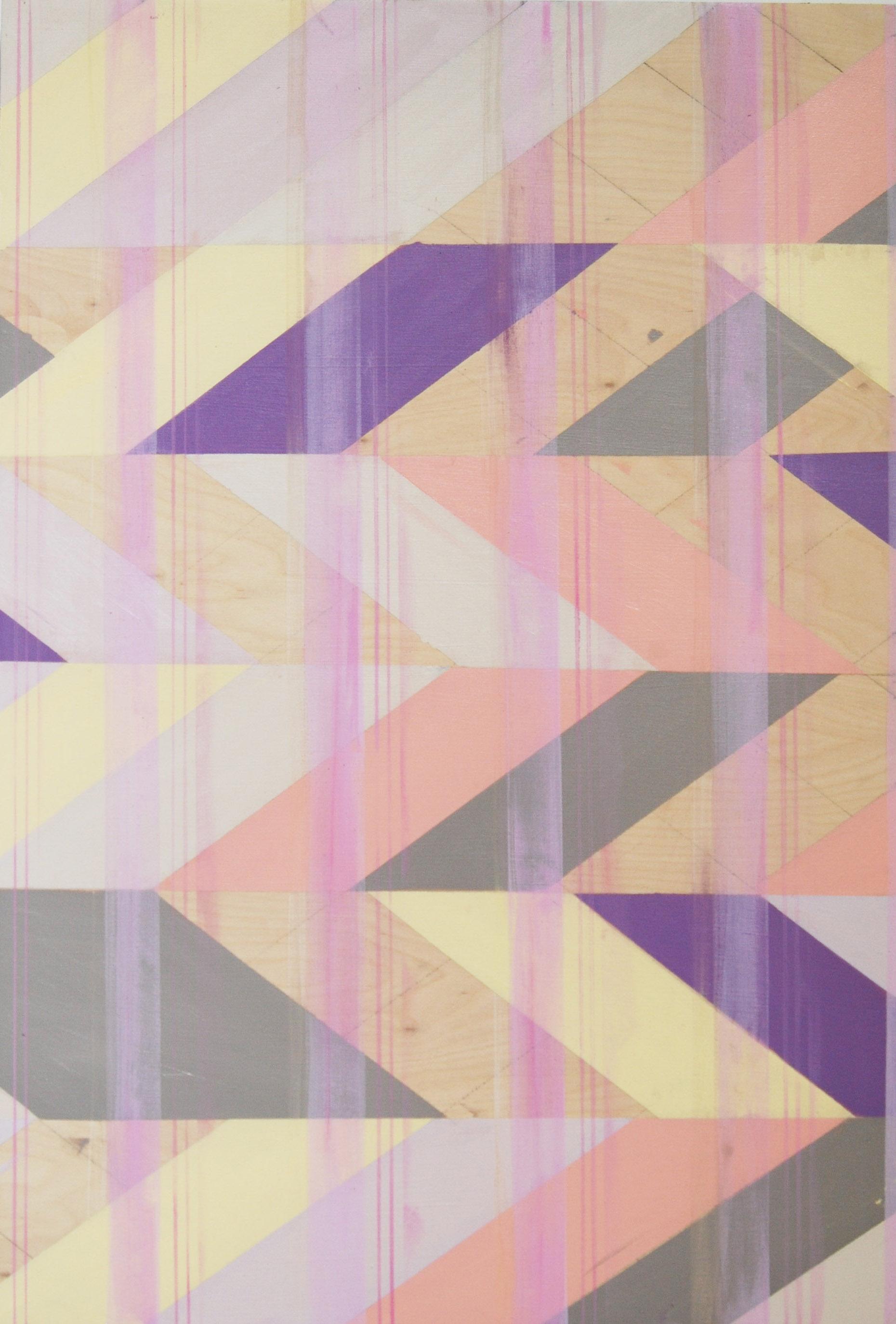 Untitled (Violet II) , oil on board, 48x48, 2012 $700