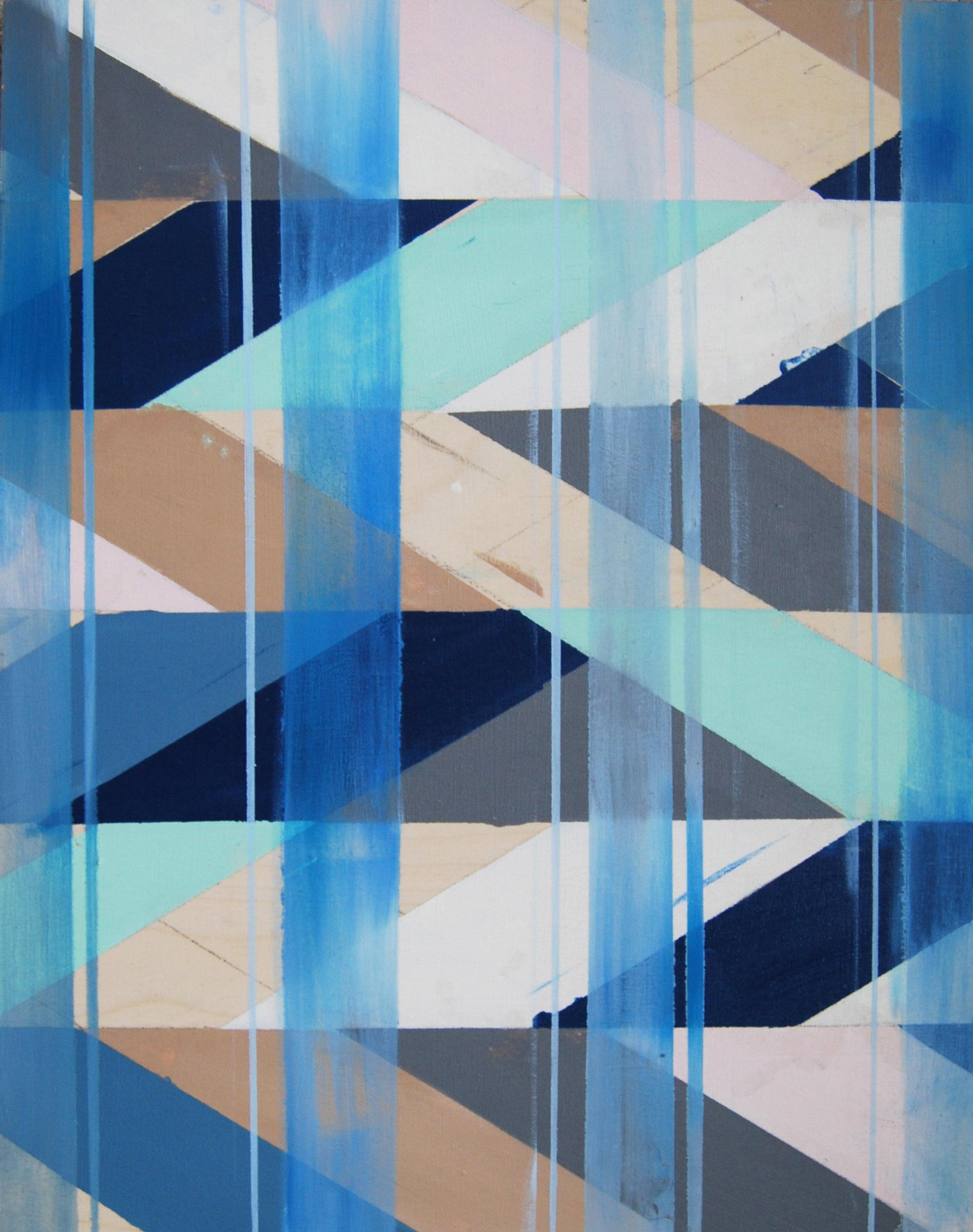 Ocean II , oil on board, 12x18, 2012, $450