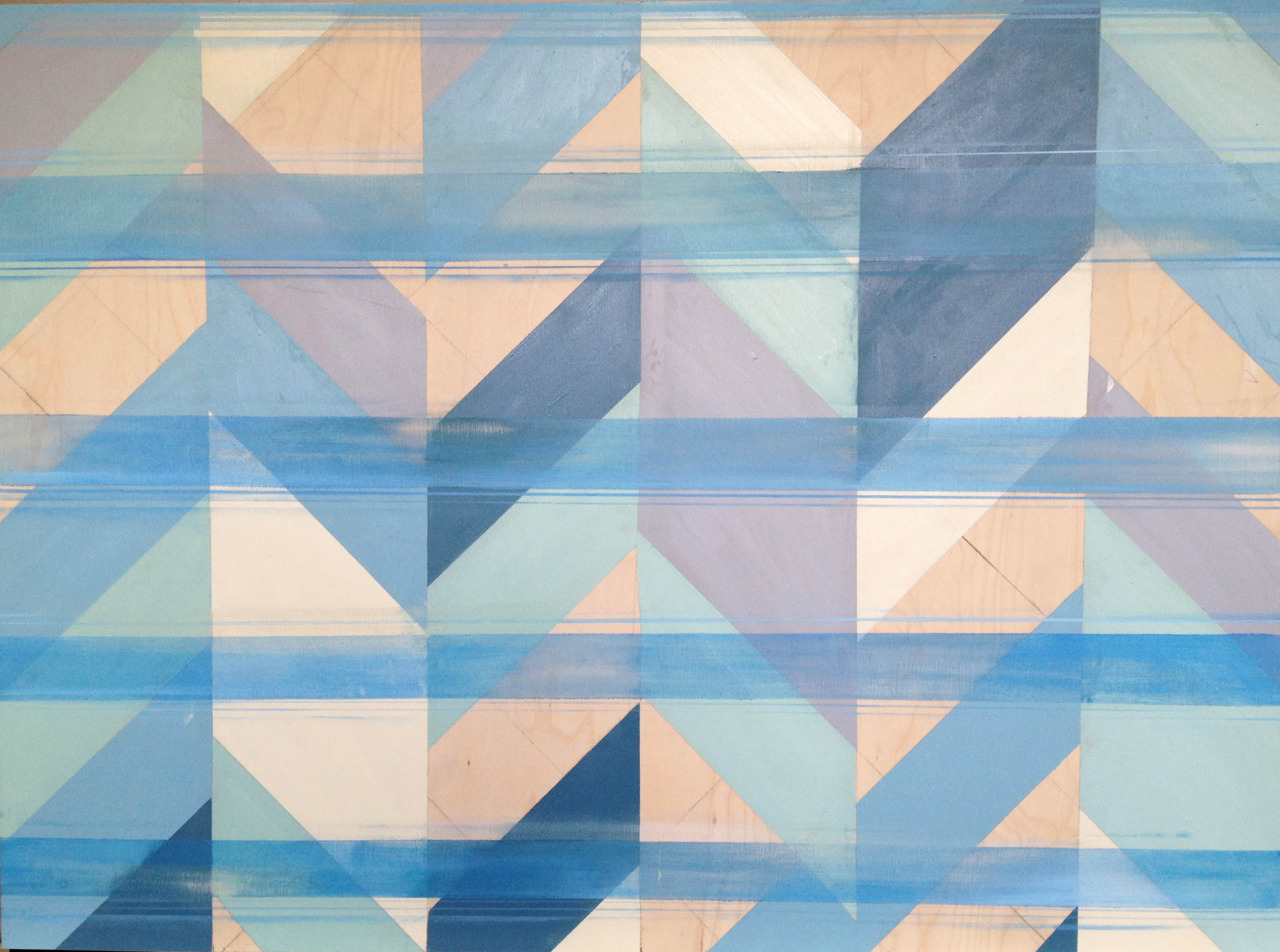 Untitled (Blue I) , oil on board, 36x48, 2012, SOLD