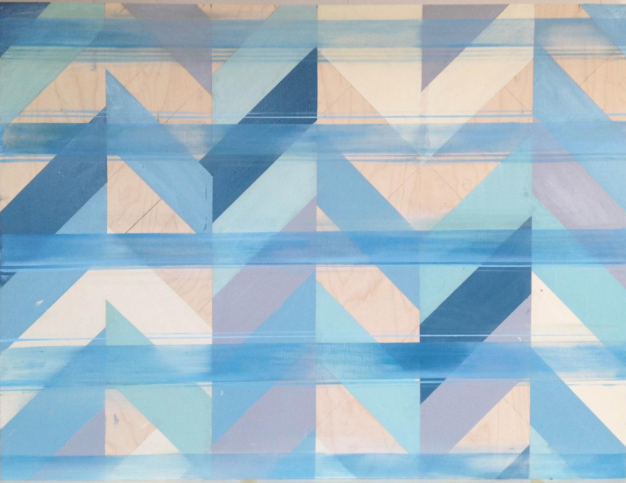 Untitled (Blue II) , oil on board, 36x48, 2012, SOLD