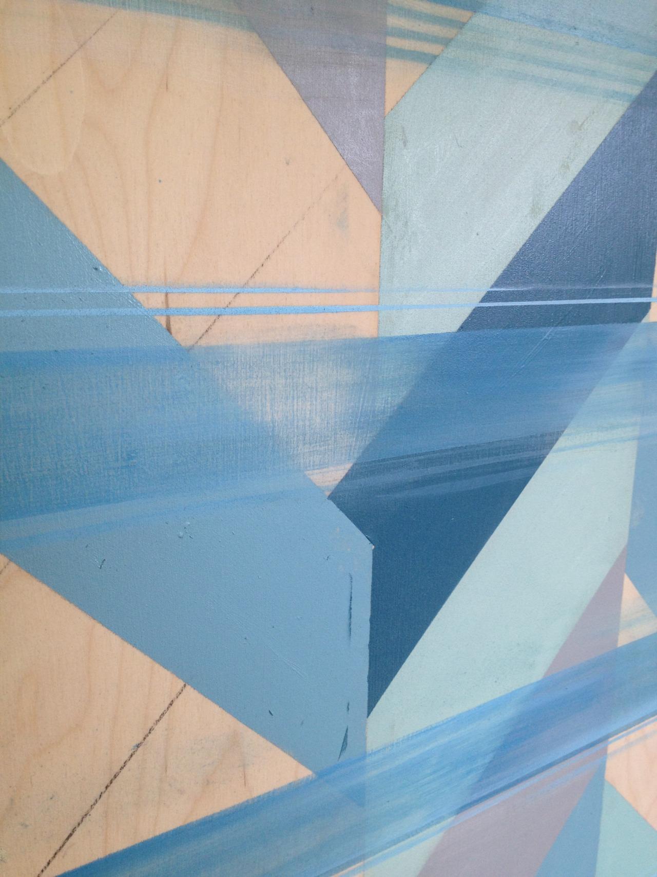 Detail:  Untitled (Blue II) , oil on board, 36x48, 2012, SOLD