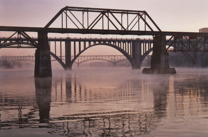 Knoxville's bridges, from Wes Morgan's Searching for Suttre