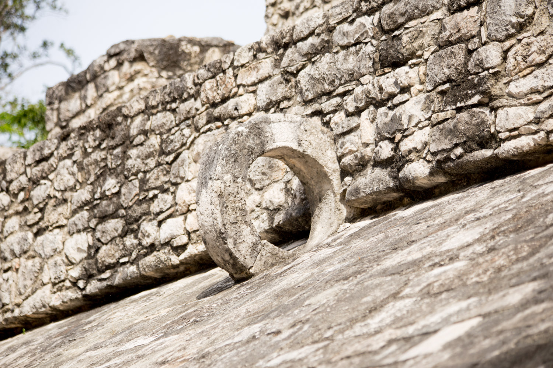 Original, intact ring used for a type Mayan ballgame.