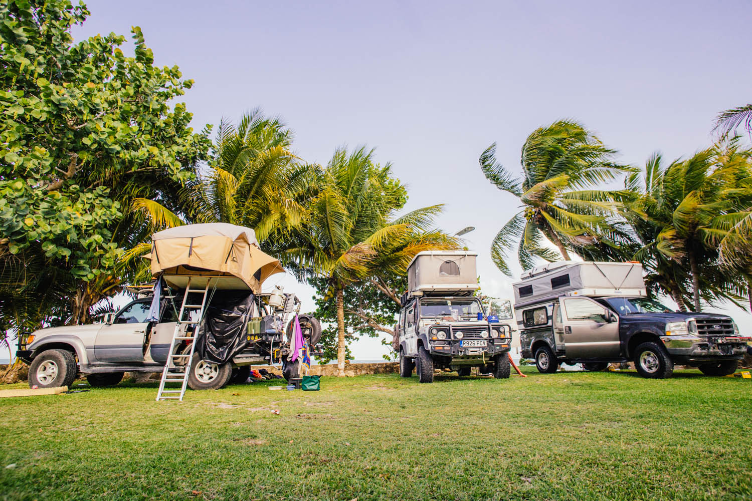 Camping in Chetumal, Mexico before our border crossing.