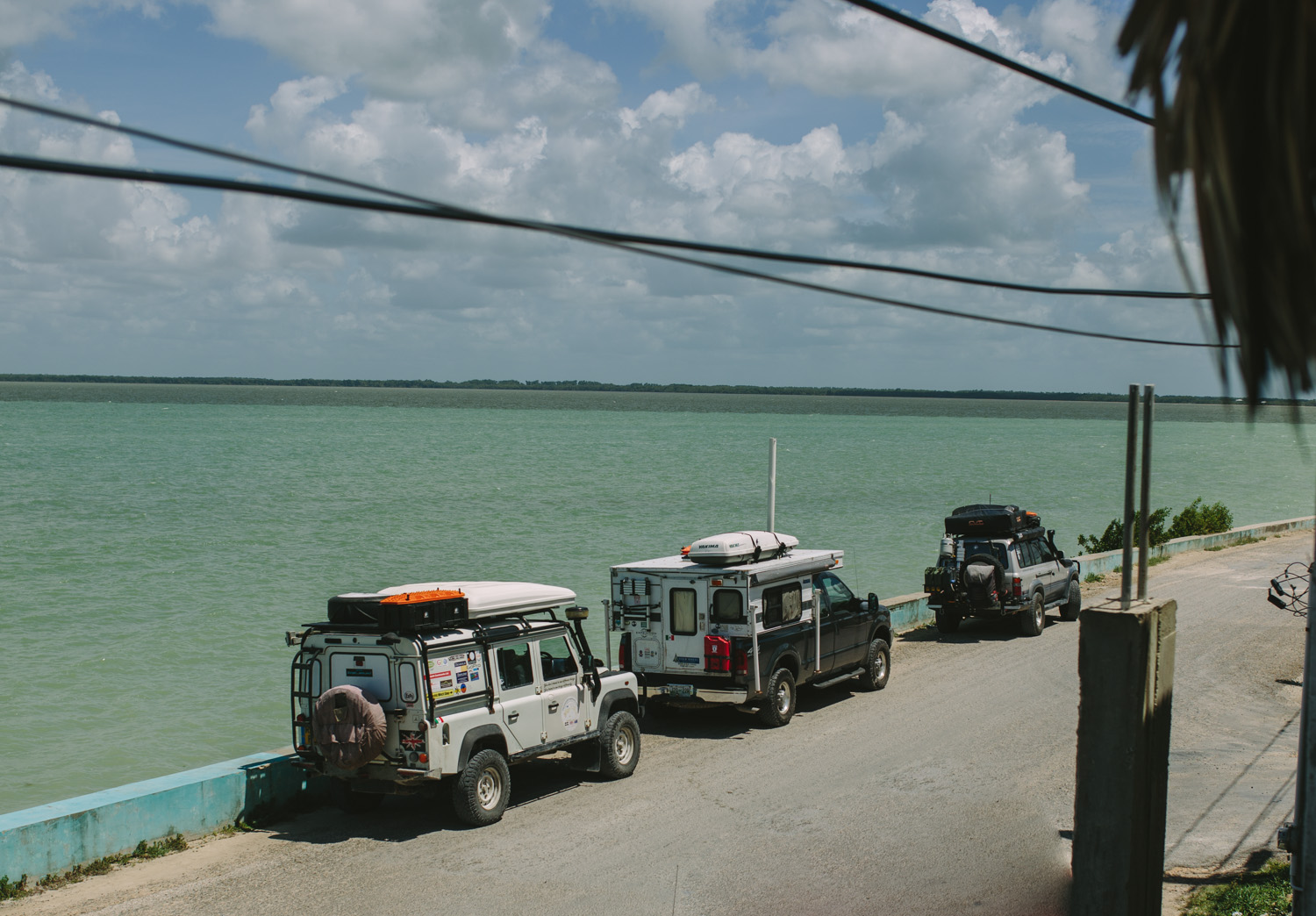 Parked on the street in Corozal