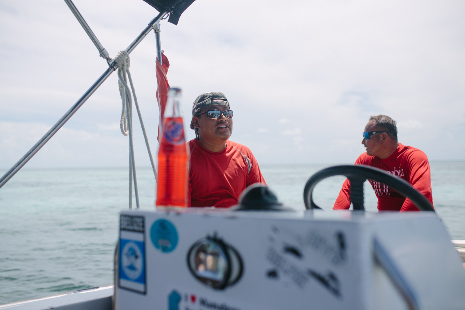 Snorkling with  French Angel Expedition