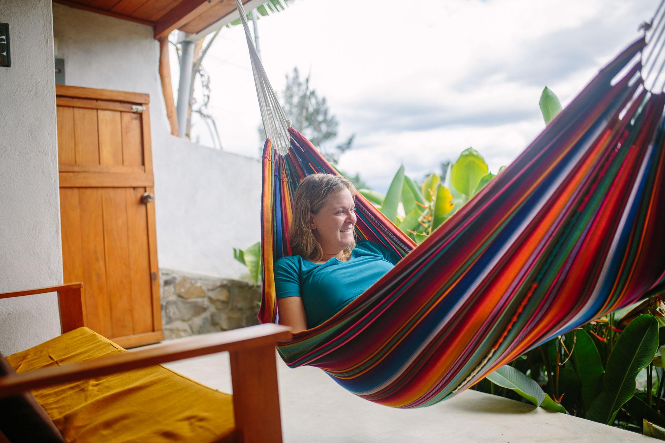 Lounging at our  Pasaj Cap  apartment