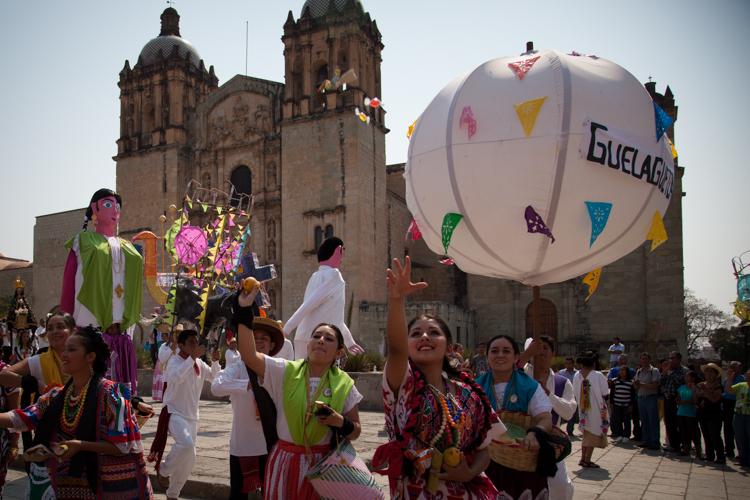 n the set of the Guelaguetza 2013 Commercial! Oaxaca City, Mexico