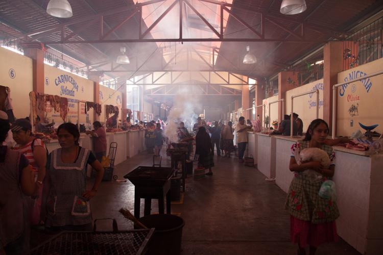 DIY BBQ at the Sunday Market in Tlacolula, Oaxaca - Mexico