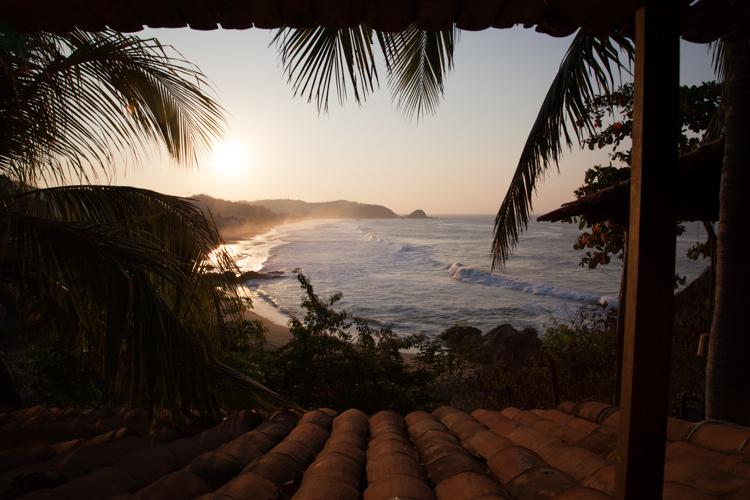 Playa Zipolite - View from Shambala Guest House