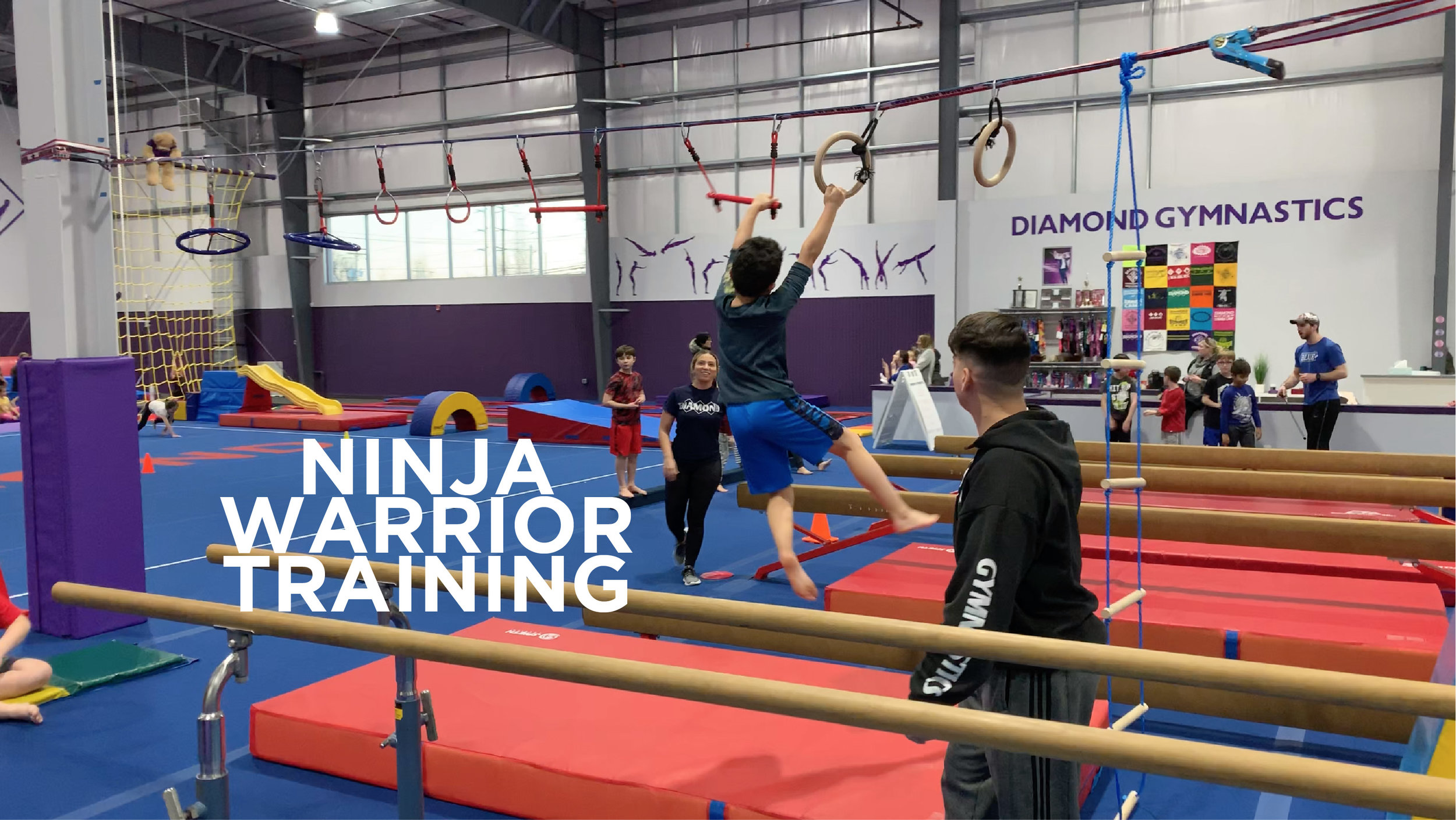 NINJA WARRIOR - Co-led by both Diamond and Precision Sports Performance coaches, our incredible program incorporates all elements of our uniquely specialized facility to transform your kids into ninjas in a safe and fun environment.Click HERE to enroll today!