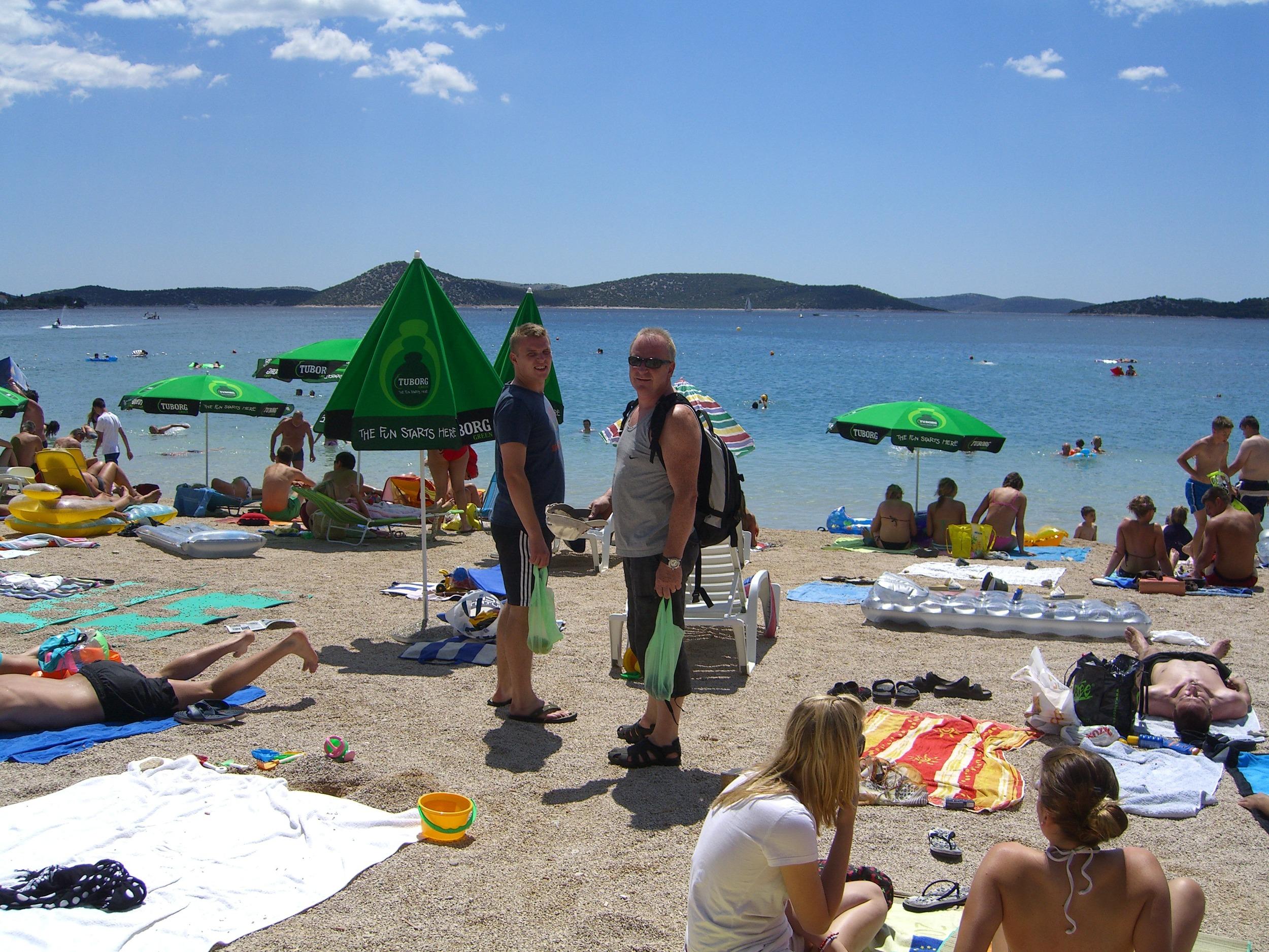 Strandlivet i Vodice