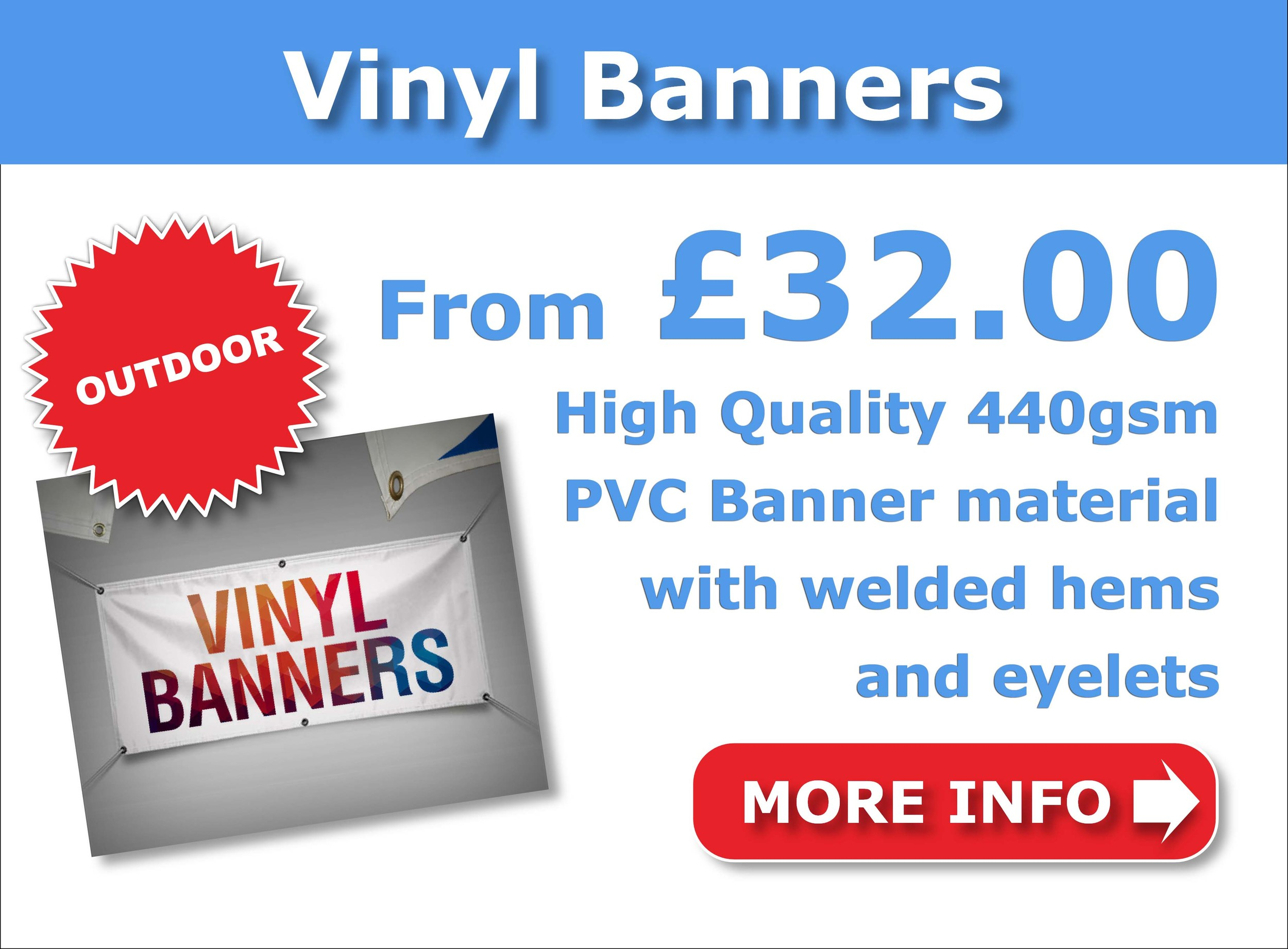 Vinyl Banners from £32.00