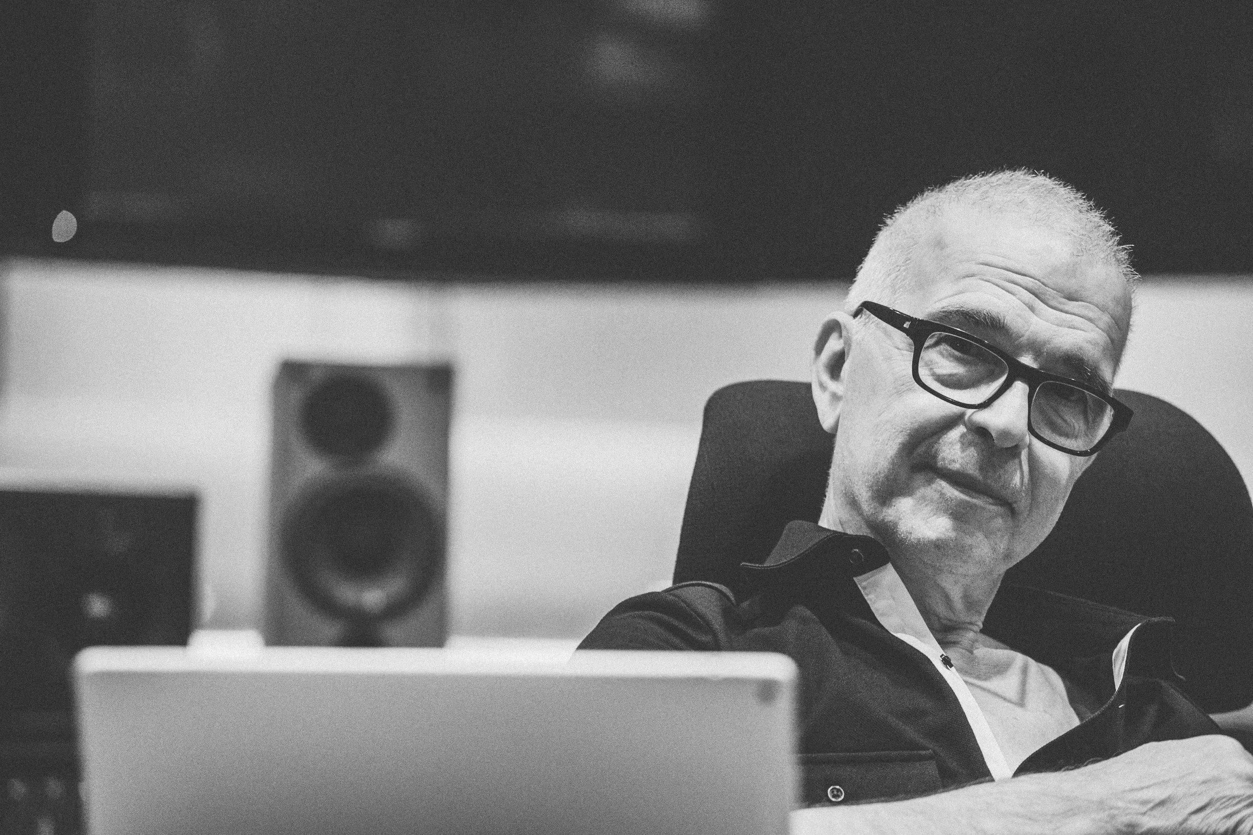 Tony Visconti in studio for Daphne Guinness session - Fiona Garden 2016