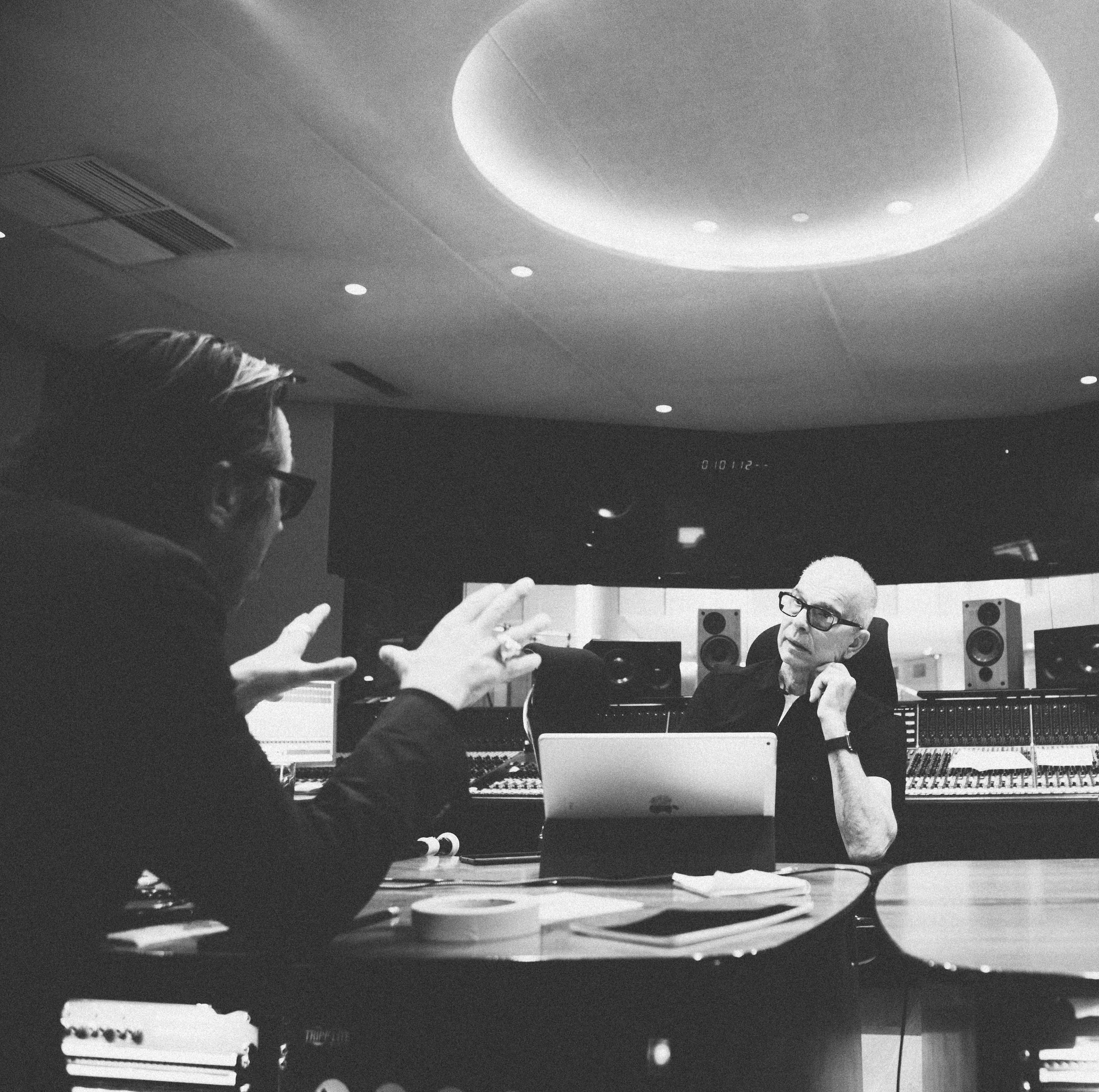 Malcolm Doherty in studio with Tony Visconti for Daphne Guinness session - Fiona Garden 2016