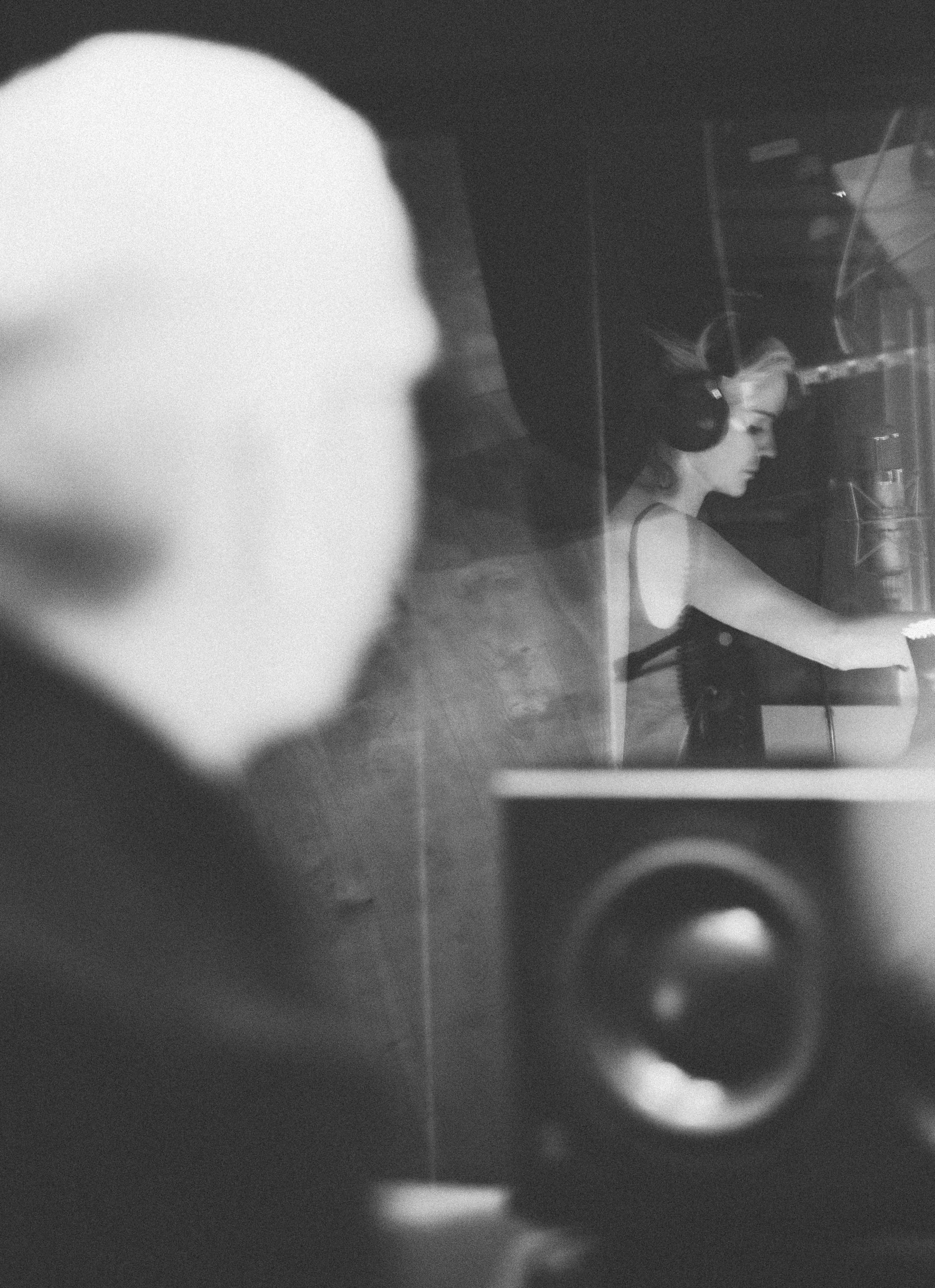 Daphne Guinness in studio with Tony Visconti - Fiona Garden 2016