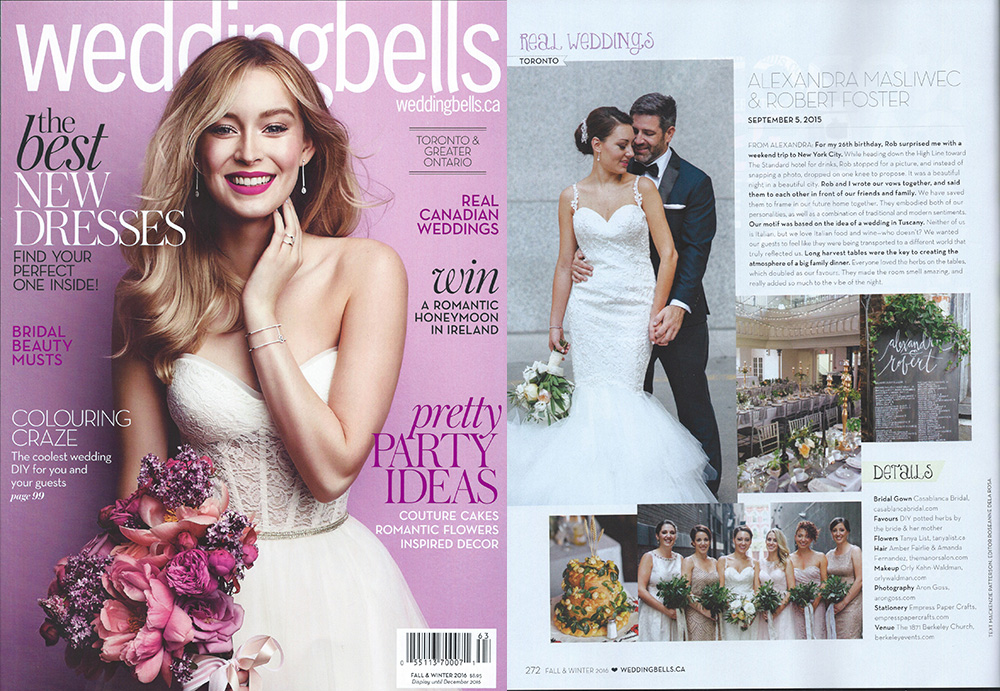Wedding Bells Magazine   Alexandra and Robert