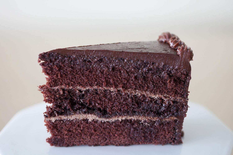 Triple Chocolate Cake slice
