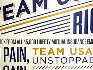 Liberty Mutual Olympic Surfboard