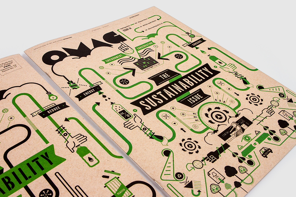 The Sustainability Cover Illustration Printed on Environment Desert Strom