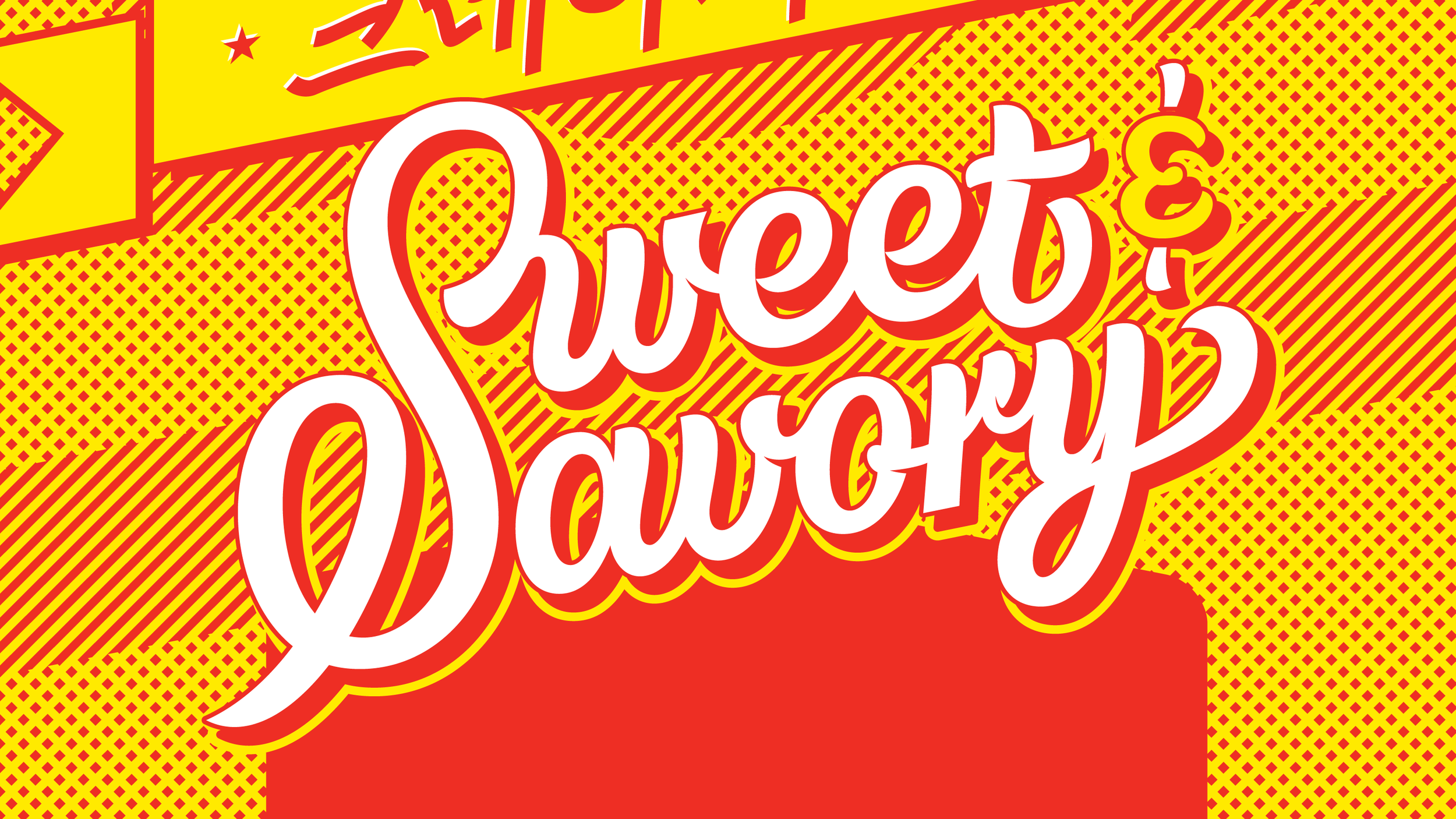 Detail of Sweet & Savory Lettering