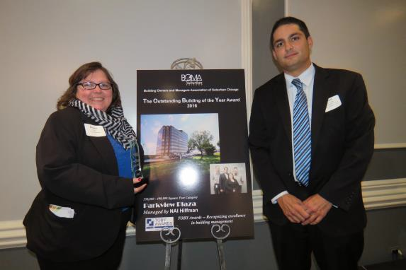 Parkview Plaza team photo: Donna Eyre, Property Assistant and Paul DiCosola, Vice President/General Manager.