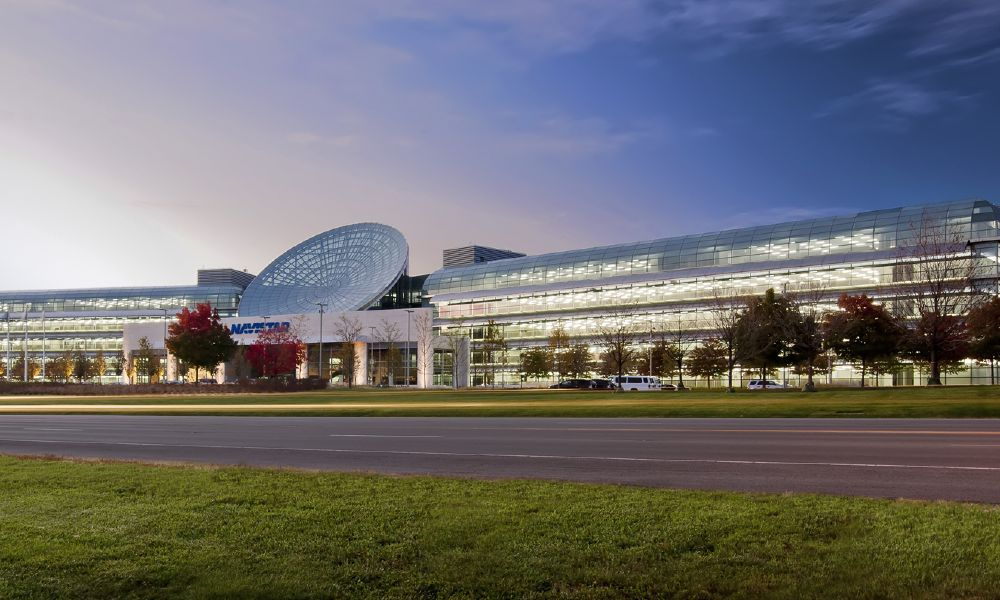 The Navistar campus in Lisle, IL, which just leased 225,000 square feet to Amita Healthcare.