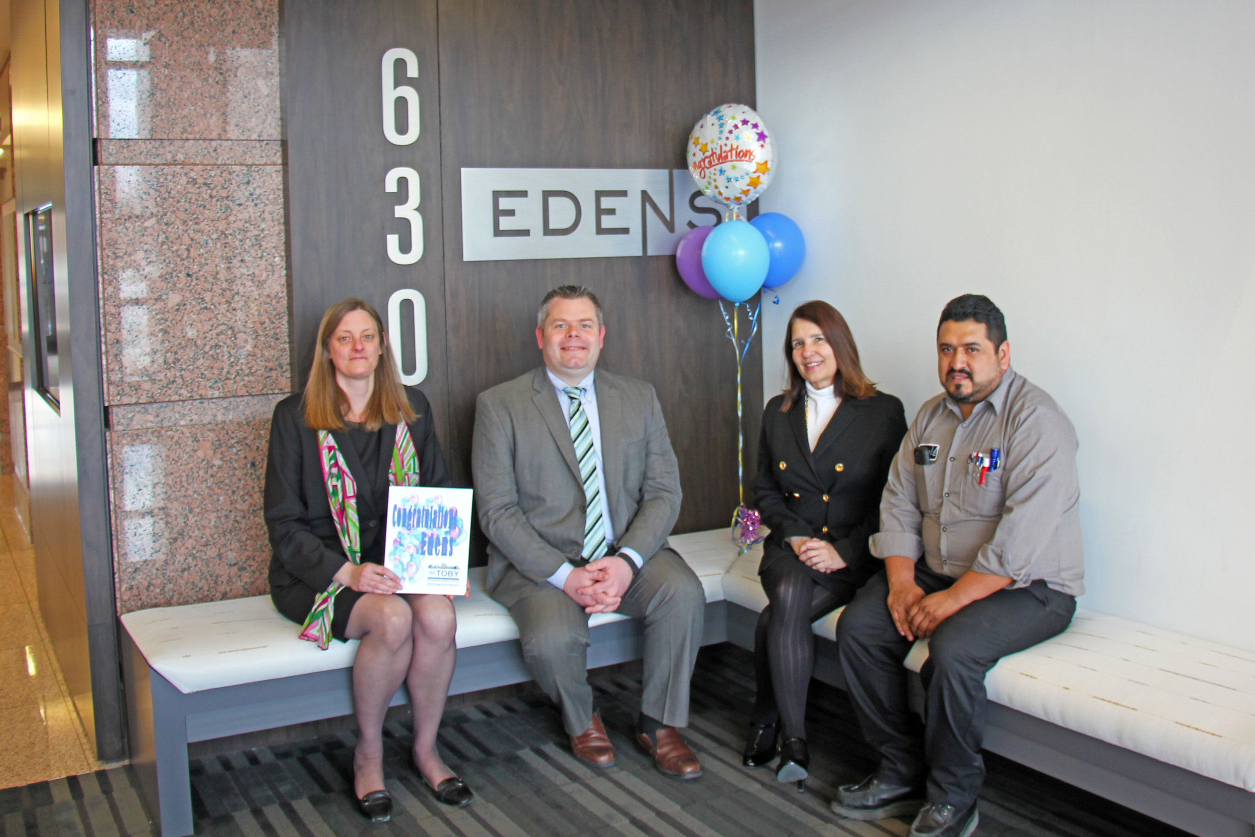 Edens Property Management Team (from left to right): Elizabeth O'Connor, Tom Murphy, Lynn Zbierski, Rudy Ricardo