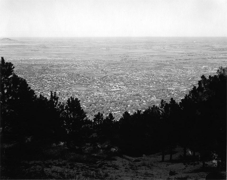 East from Flagstaff Mountain, Boulder County, Colorado , 1975 ©Robert Adams