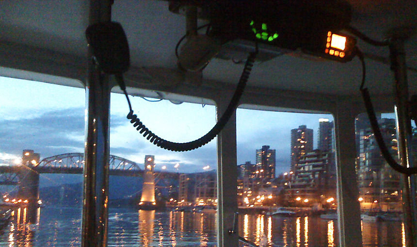 Evening ferry ride in Vancouver. Beautiful city.