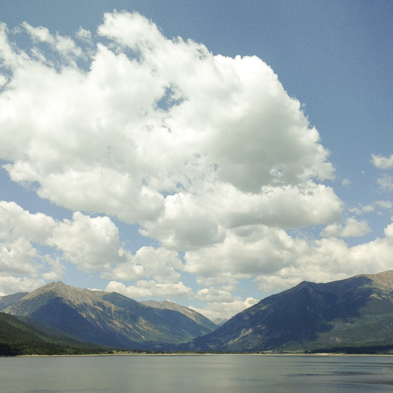 Looking from Twin Lakes toward Independence Pass, the final climb of the trip.