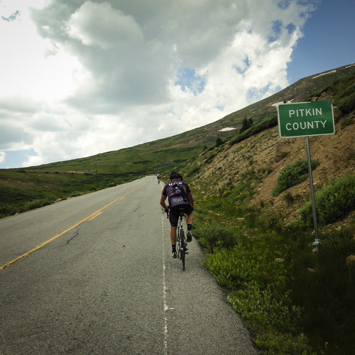 Into Pitkin County, and a 20 mile descent into Aspen / Snowmass. Then straight to the liquor store.