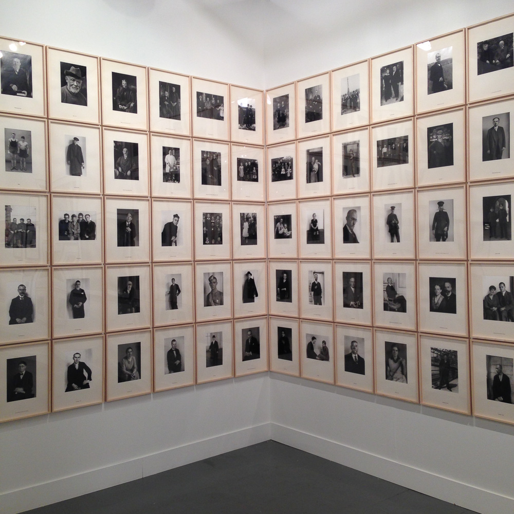 A lot of August Sander, a lot of Do Re Mi.