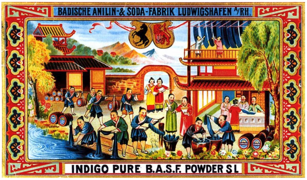 An early ad for BASF indigo.