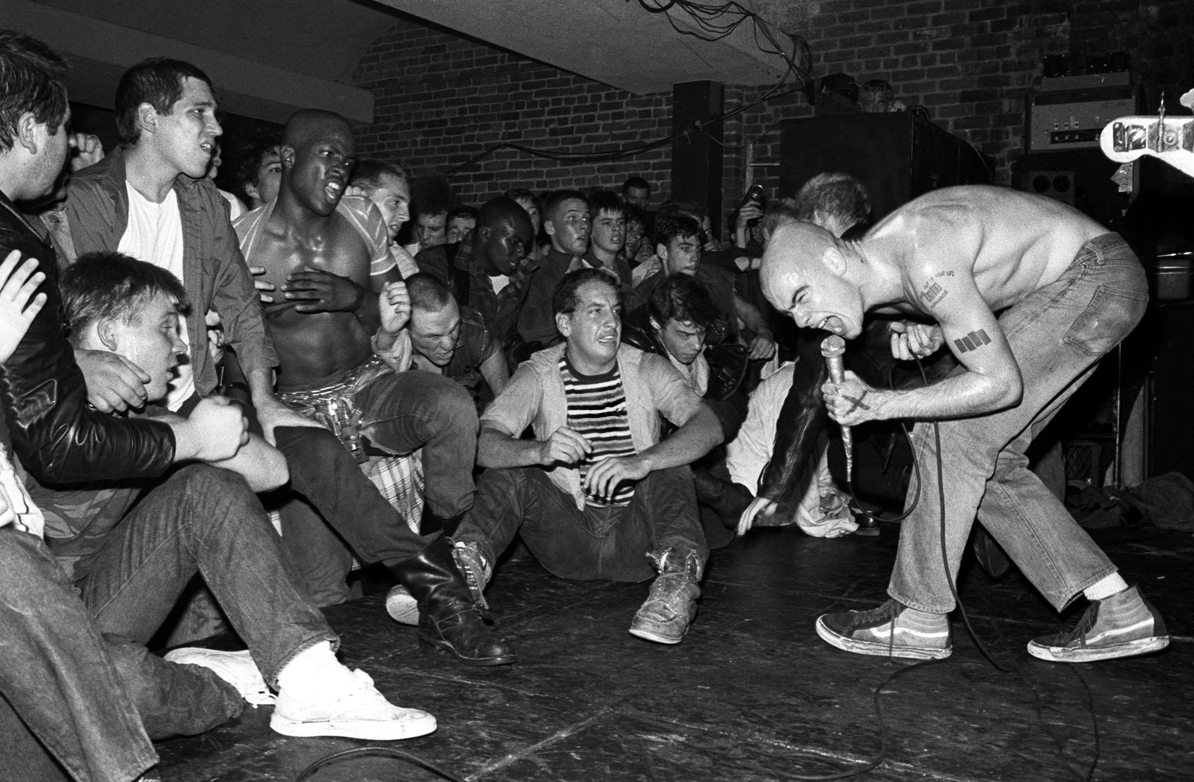 Rollins Performing with Black Flag in the Early 80s. Photographer unknown.