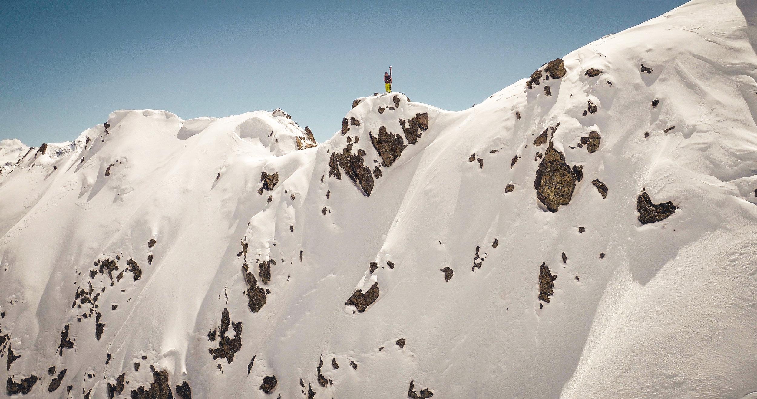 on the top of switzerland - for Vaude
