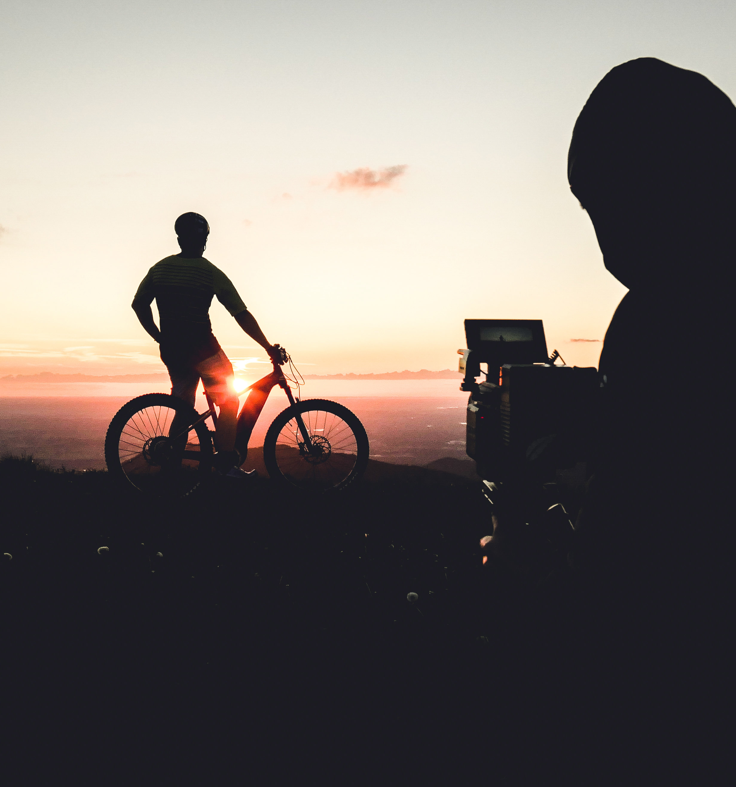 last light IN the alps - shooting for Giant Bicycles