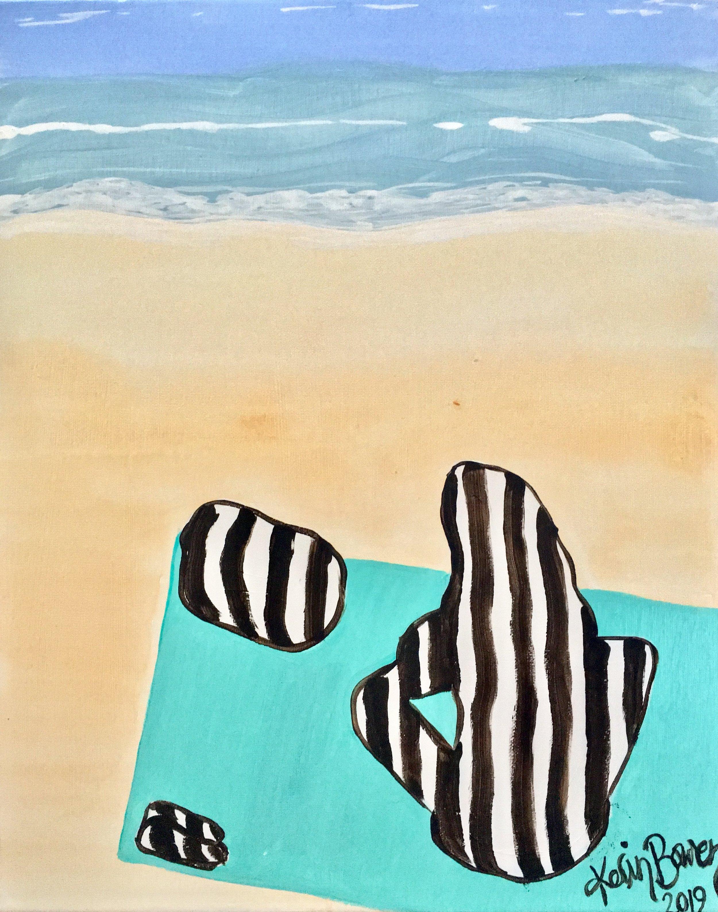 Beach Trip, 2017-2019  acrylic on stretched canvas