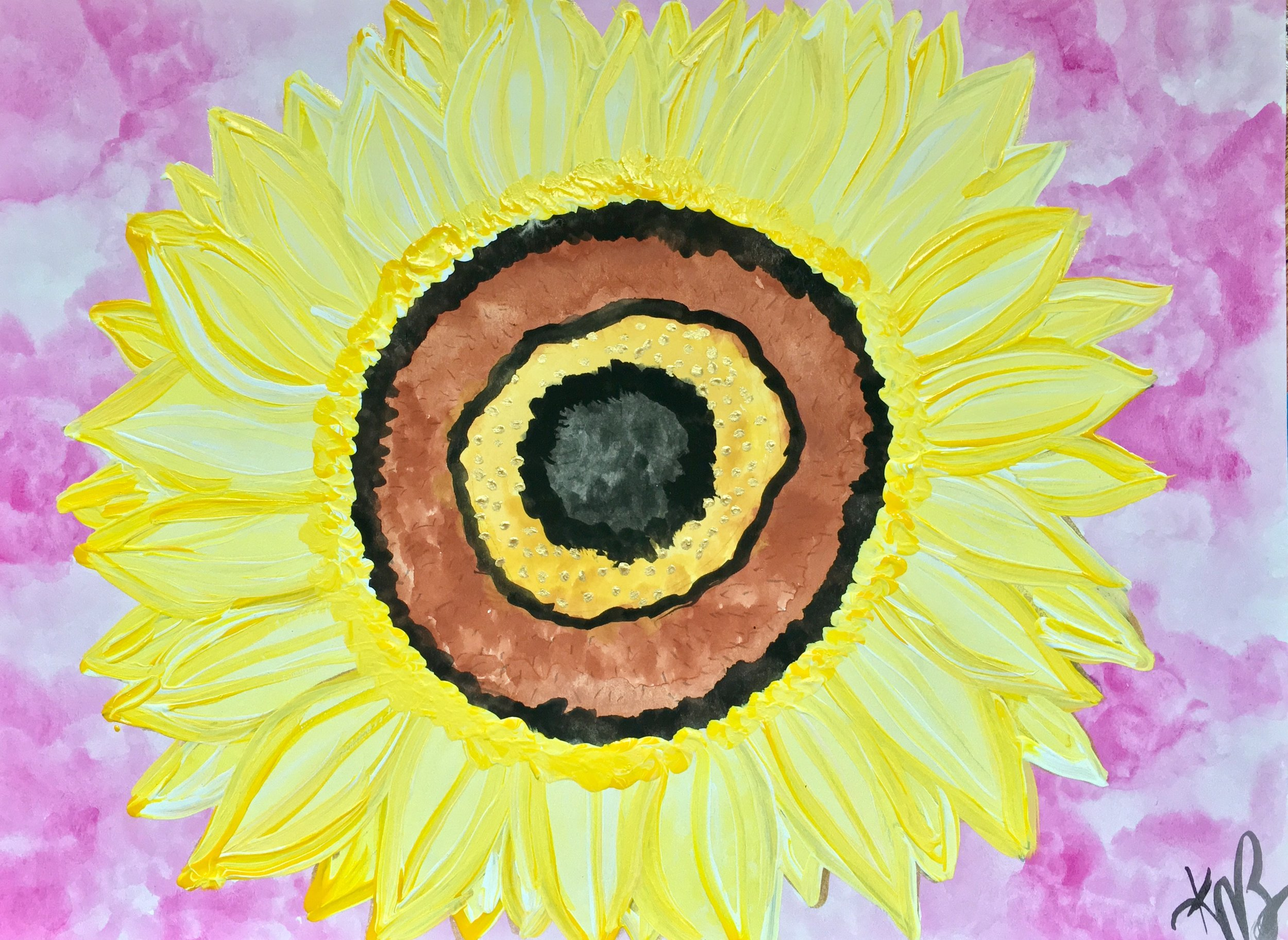 Sunflower, 2016  watercolor and acrylic on watercolor paper