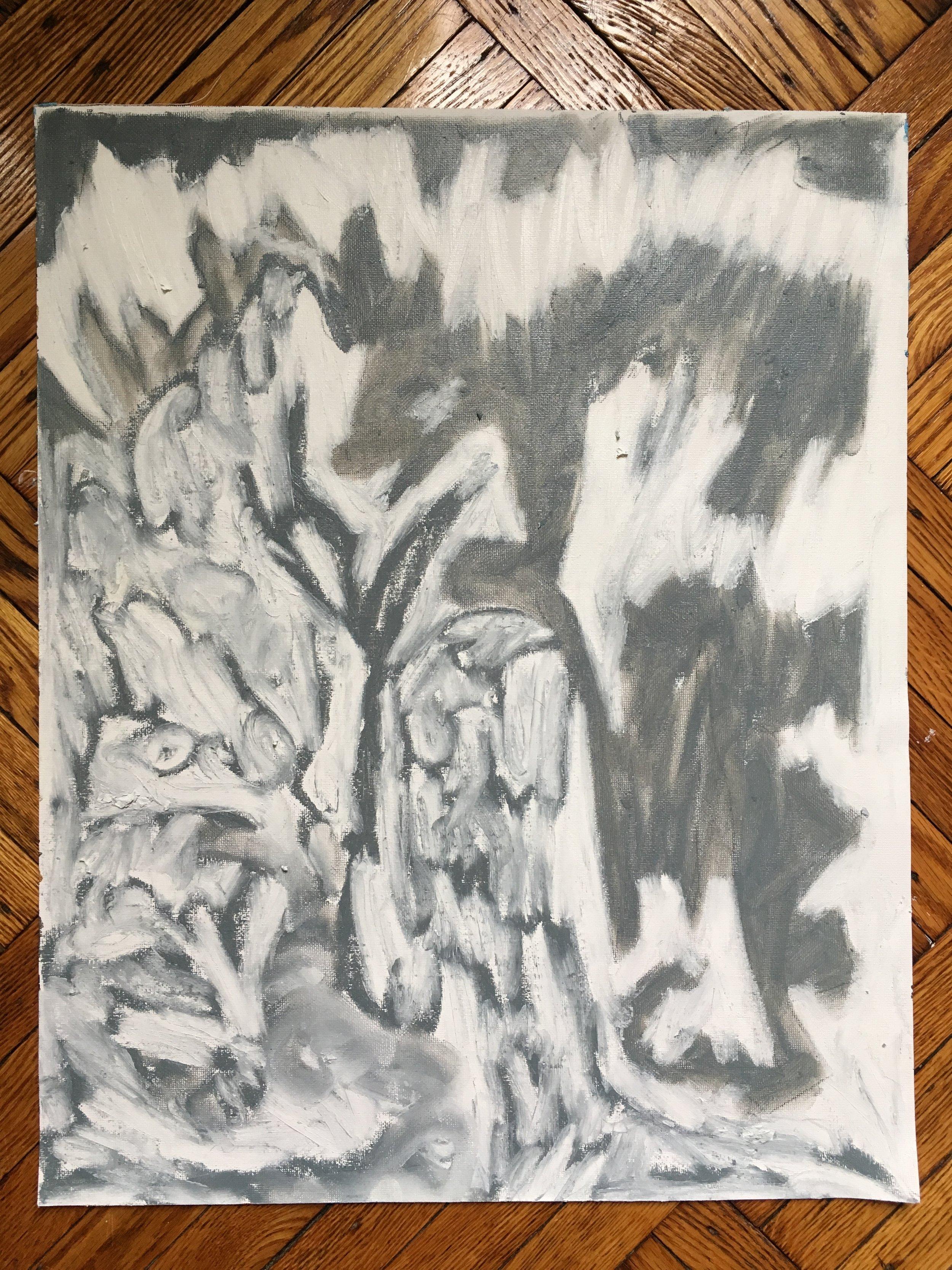 Winter, 2018  oil stick on canvas