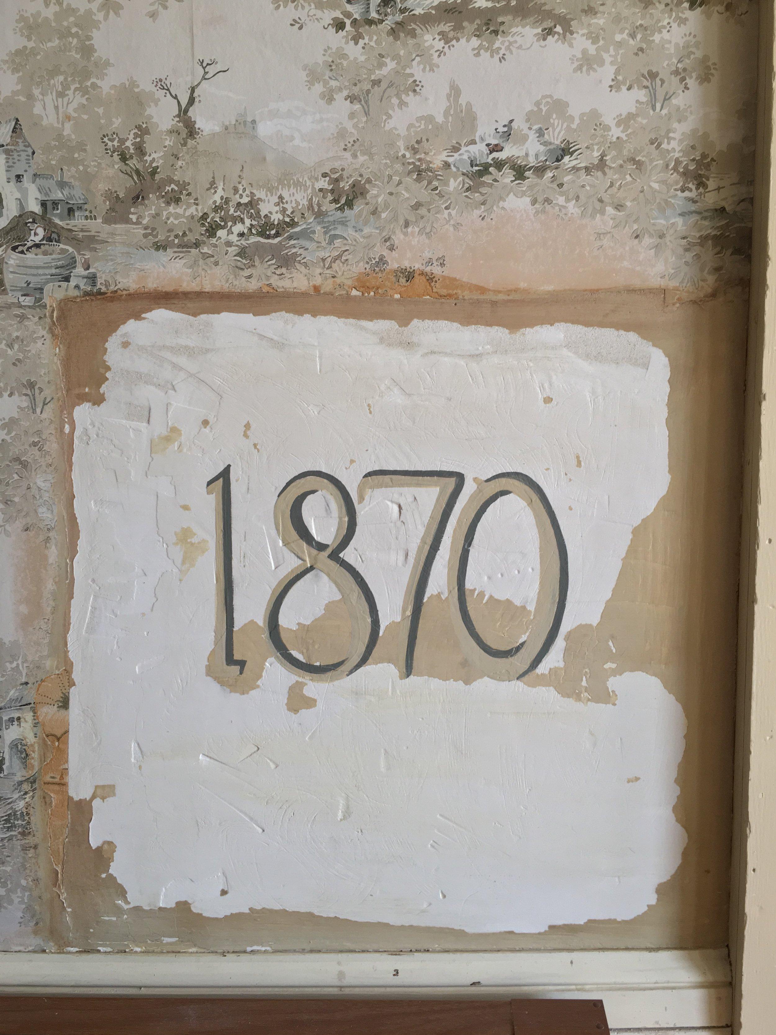 Sewall House, 1890, 2018  wax, acrylic on wall
