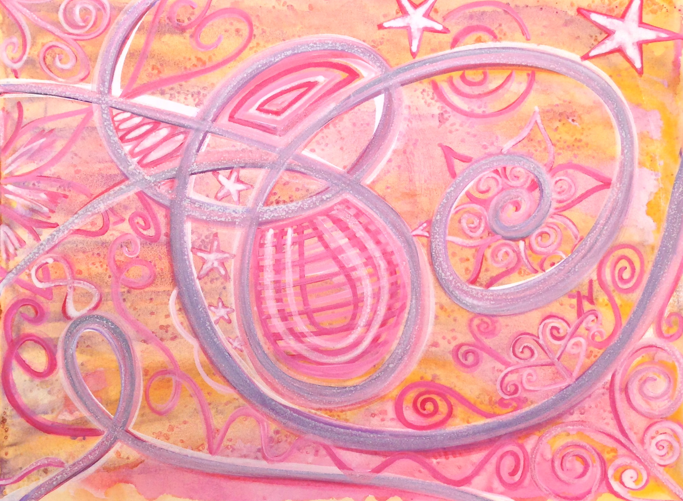 Optimism, 2014  acrylic and glitter on stretched canvas