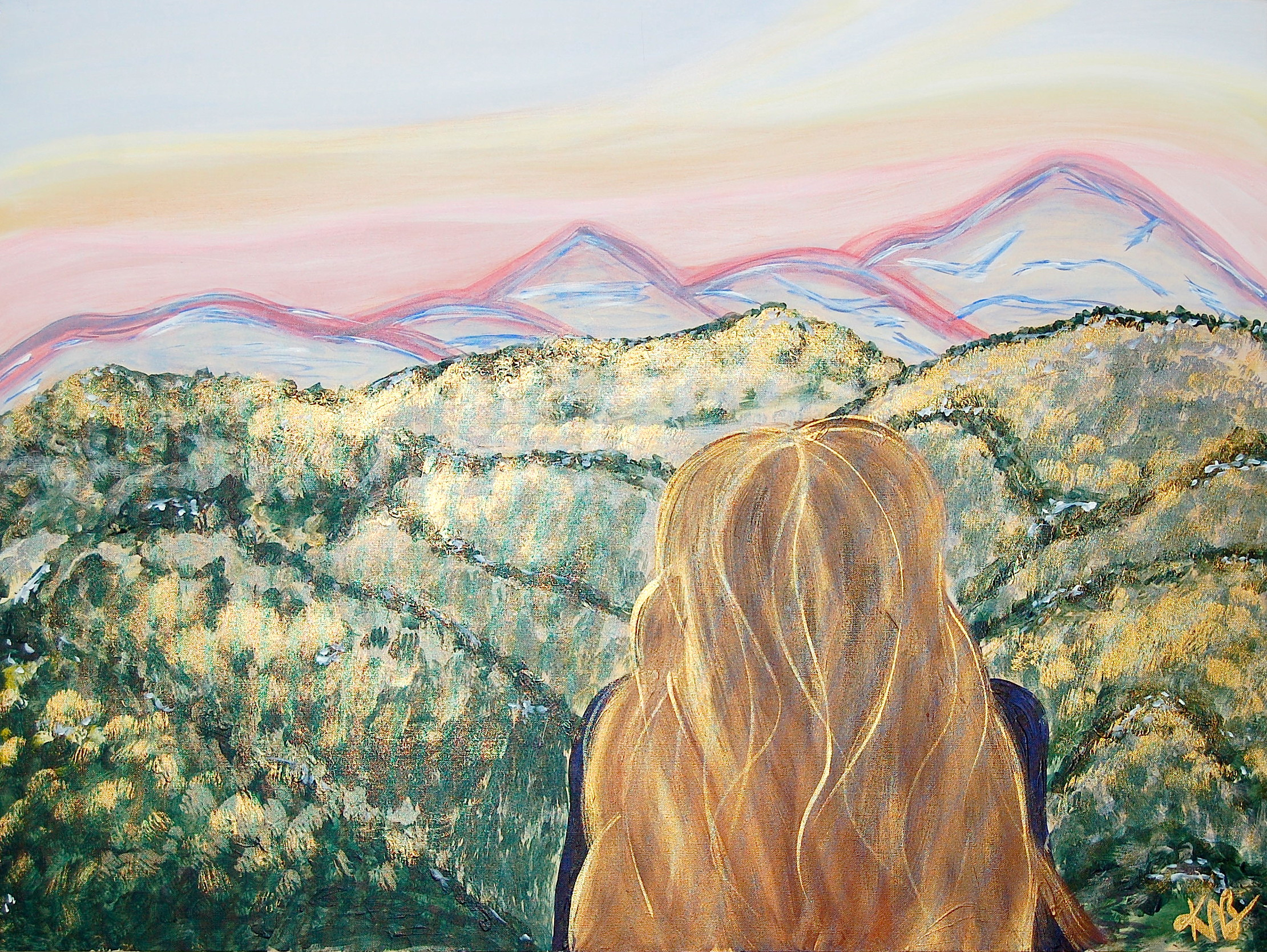 Sunrise at Lookout Mountain, 2016  acrylic on stretched canvas