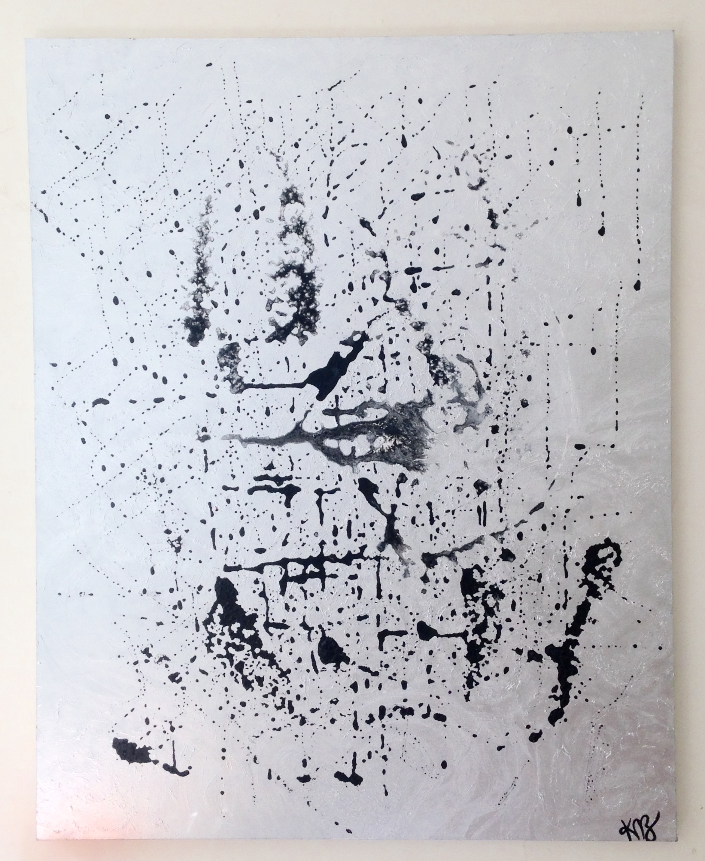 Ego, 2014-2016  acrylic, spray paint on stretched canvas