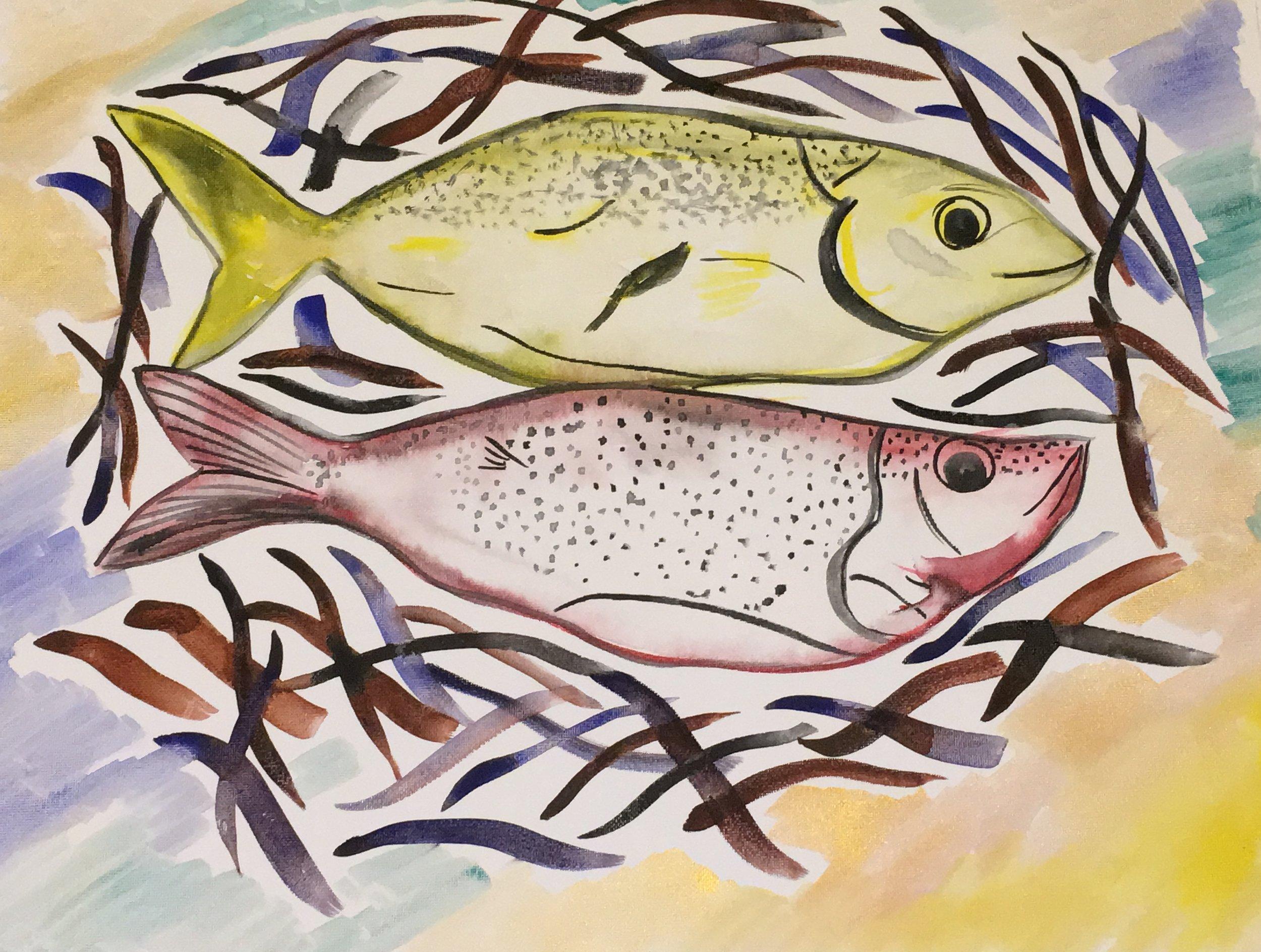 Dinner, 2018  watercolor on watercolor paper