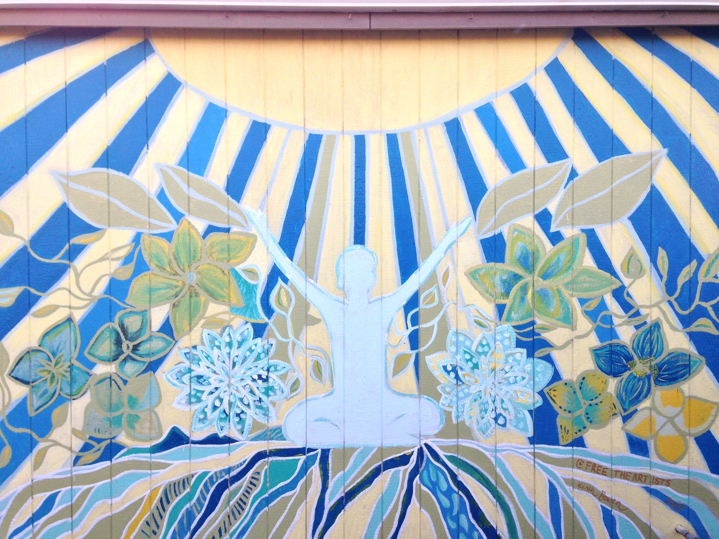 Community Mural, 2017  wall paint on wood wall