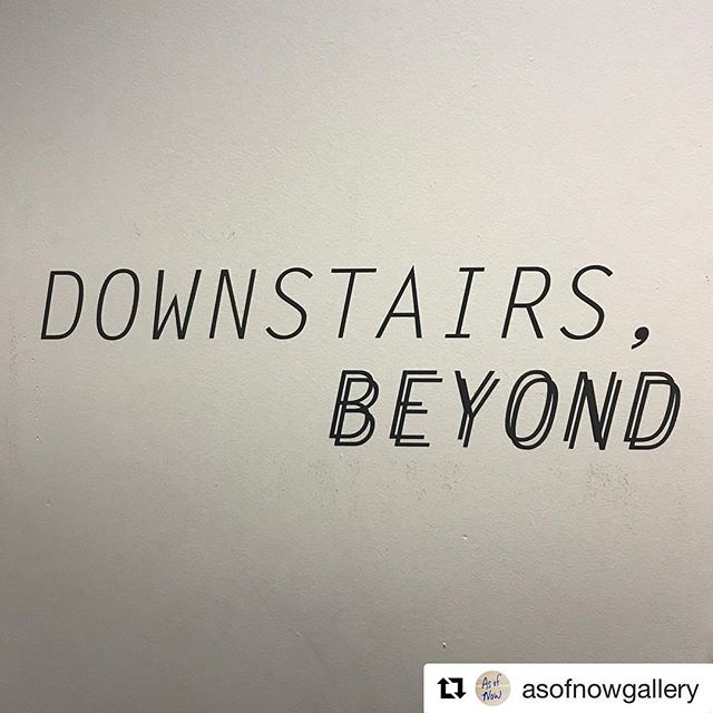 #Repost @asofnowgallery with @get_repost ・・・ Don't be fooled by the storefront! We're open today and tomorrow from 1-6 pm — knock on the door 78 Henry st #asofnowgallery - Downstairs, Beyond curated by @nikkimehle