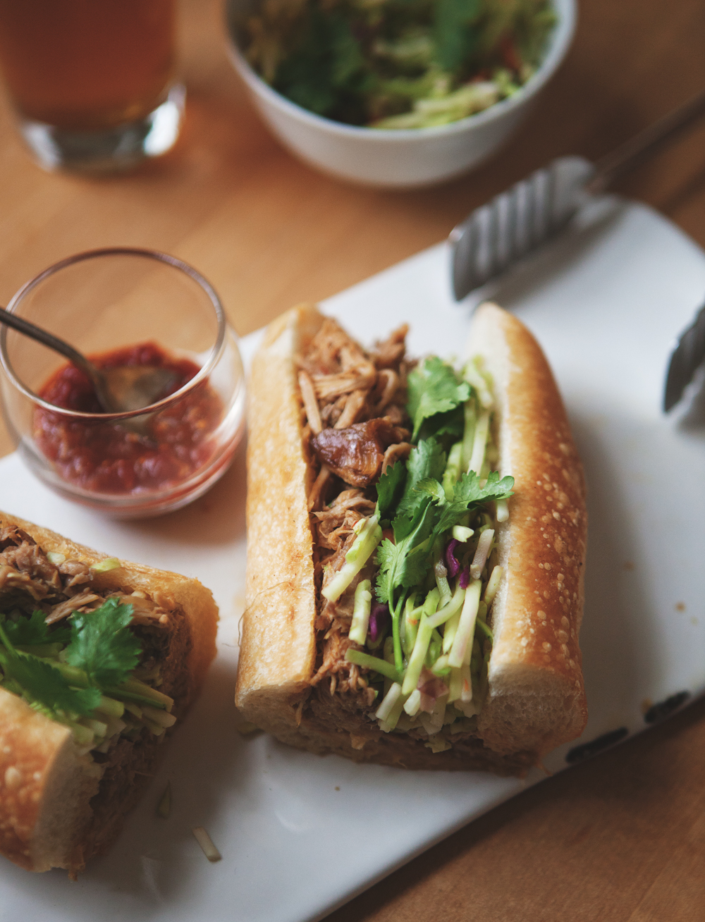 Thai-Style Pulled Pork Bánh Mì — Better Happier