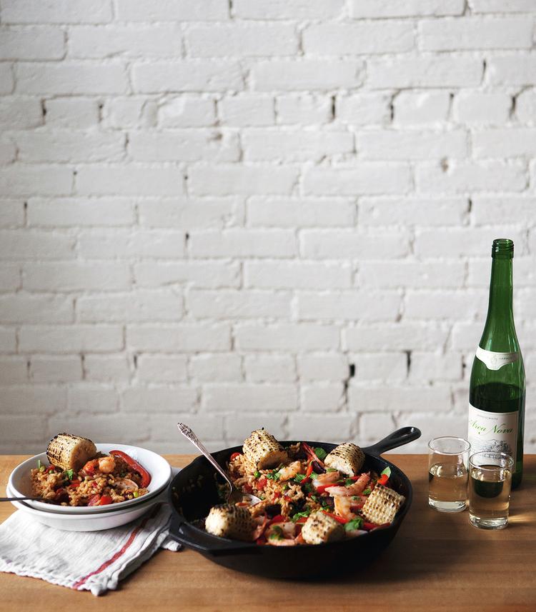 ABHSS_JG_Old-Bay-Shrimp-Paella-with-Charred-Corn-and-Bacon.jpg