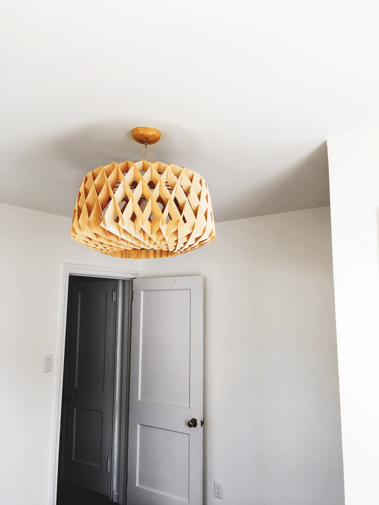 I'm beyond obsessed with this light fixture I found for the guest room. It's still available online  here .